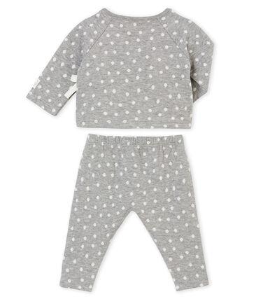 Conjunto para bebé niña en túbico Jacquard