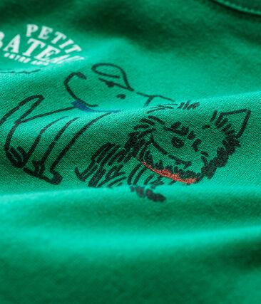 Camiseta de manga larga para bebé niño verde Ecology