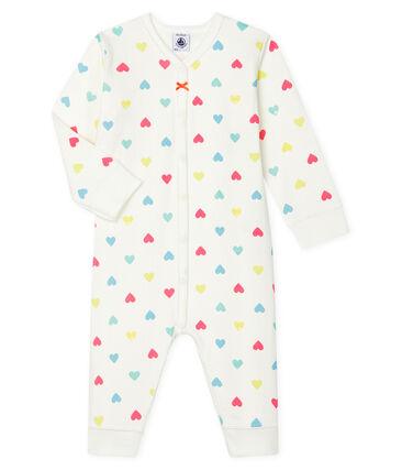 Pijama de bebé sin pies en túbico para niña blanco Marshmallow / blanco Multico