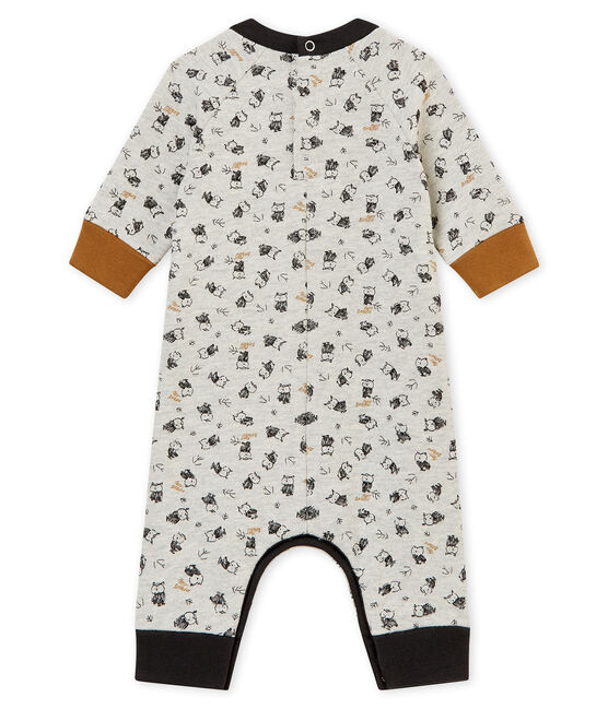 Pelele largo estampado para bebé niño gris Beluga / blanco Multico