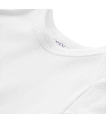 Camiseta lisa unisex para bebé blanco Ecume
