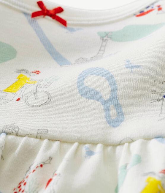 Pelele corto para bebé niña blanco Marshmallow / blanco Multico