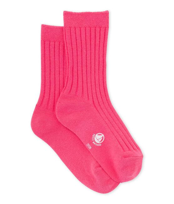 Calcetines para niña rosa Peony