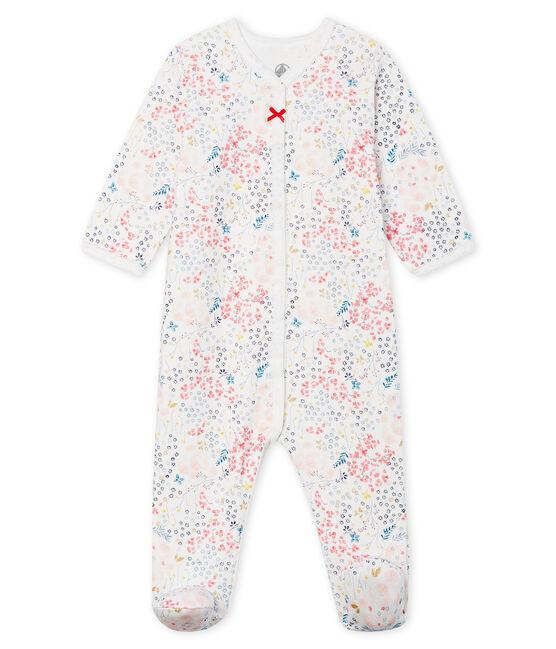 Pijama de túbico para bebé niña blanco Marshmallow / blanco Multico