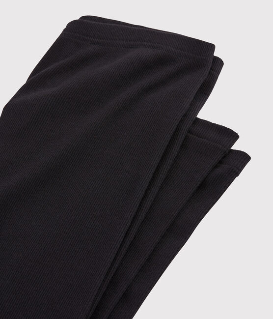 Leggins de lana y algodón para mujer negro Noir