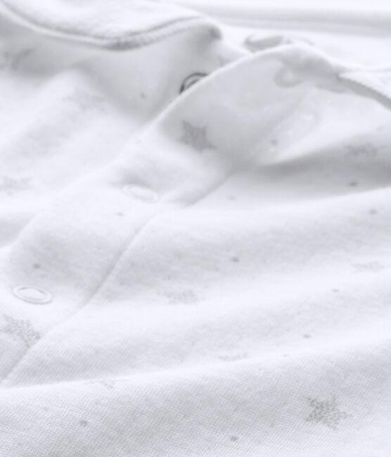 Pijama para bebé niño con estampado de estrellas blanco Ecume / marrón Shitake