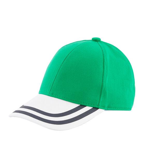 Gorra de sarga niño verde Prado / blanco Marshmallow