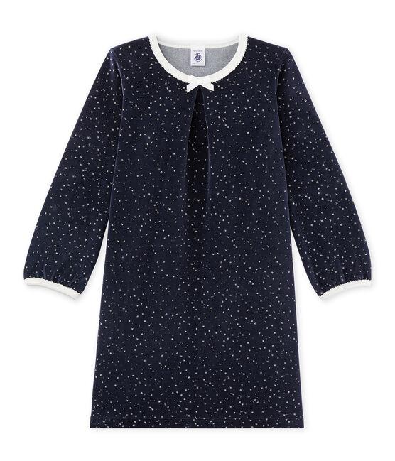 Chemise de nuit fille en bouclette velours azul Smoking / gris Argent