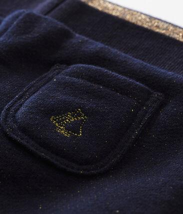 Pantalón en muletón brillante para bebé niña