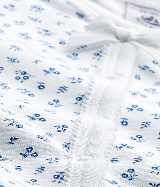 Pijama estampado para bebé niña blanco Ecume / azul Bleu