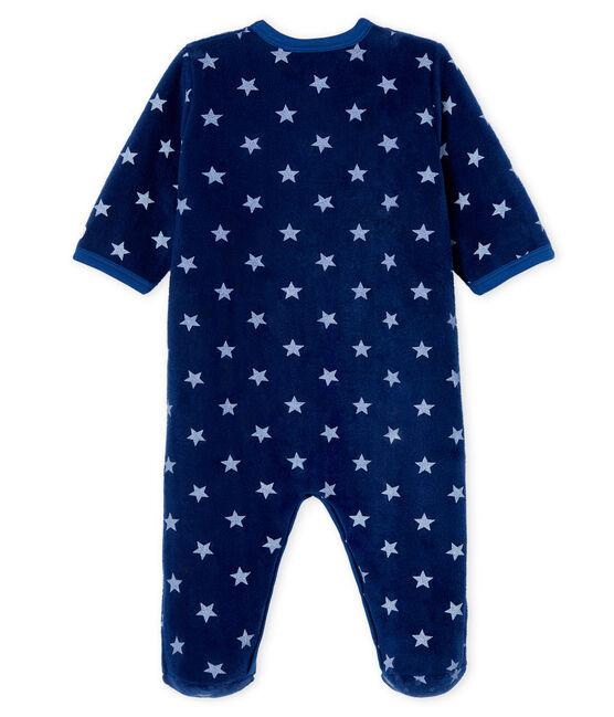 Sobrepijama de polar para bebé niño azul Medieval / blanco Marshmallow