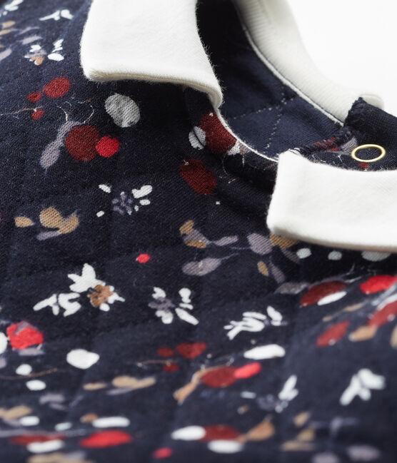 Vestido para niña azul Smoking / blanco Multico