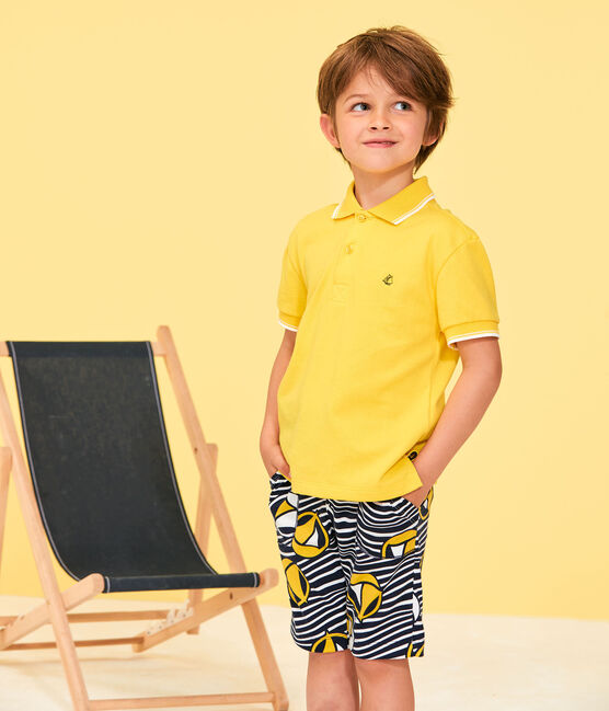 Polo de niño amarillo Shine