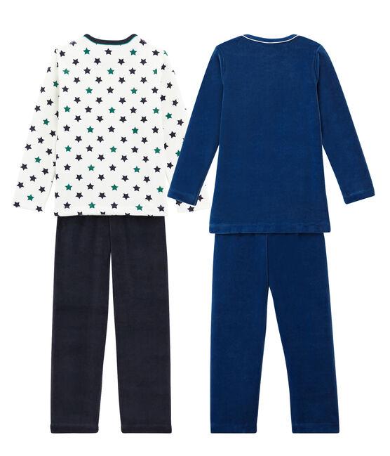 Lote de 2 pijamas cálidos para niño pequeño lote .