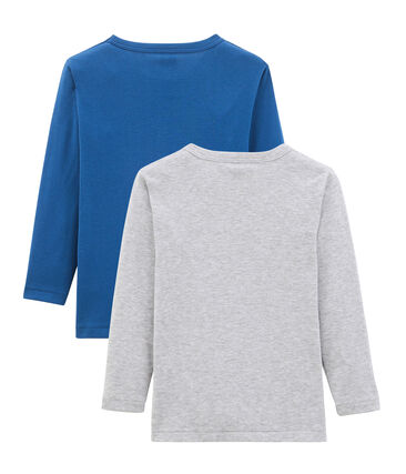 Par de camisetas manga larga para niño
