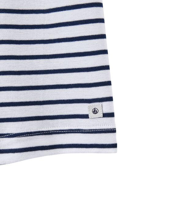 Short rayado para niño blanco Ecume / azul Medieval