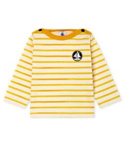 Camiseta de manga larga a rayas para bebé niño