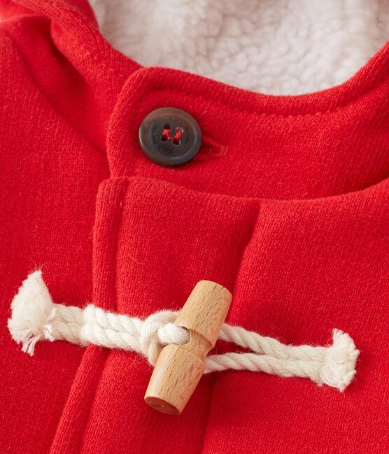 Parka bebé mixto en muletón rojo Froufrou