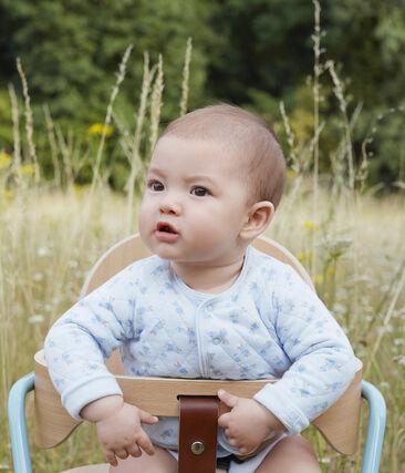 Cárdigan de túbico acolchado para bebé azul Fraicheur / blanco Multico