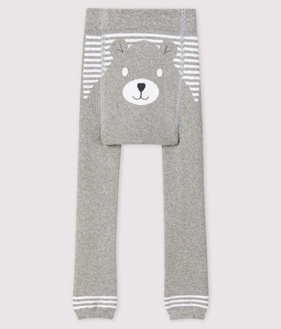 Leotardos sin pies para bebé gris Beluga