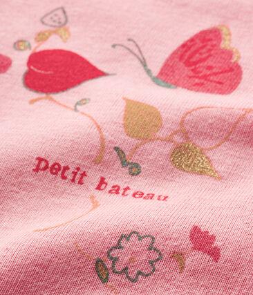Bodi de manga corta para bebé niña rosa Gretel