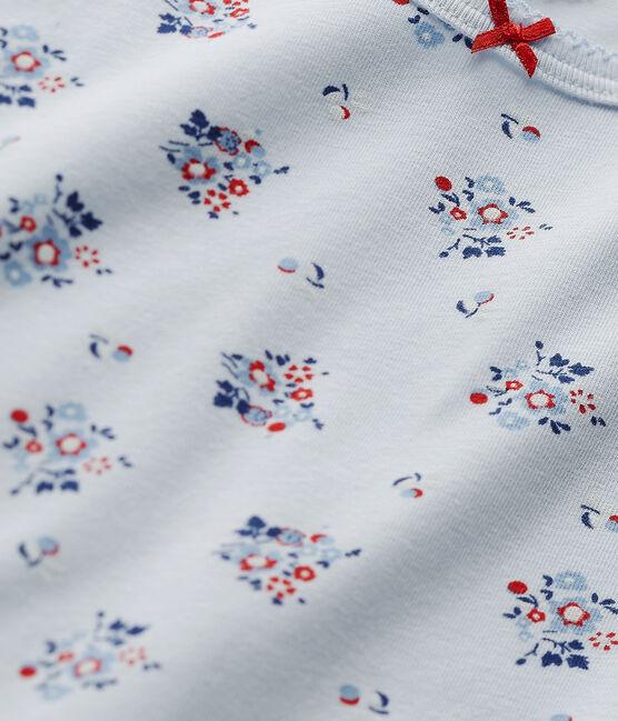 Camiseta estampada en jersey stretch azul Fraicheur / blanco Multico
