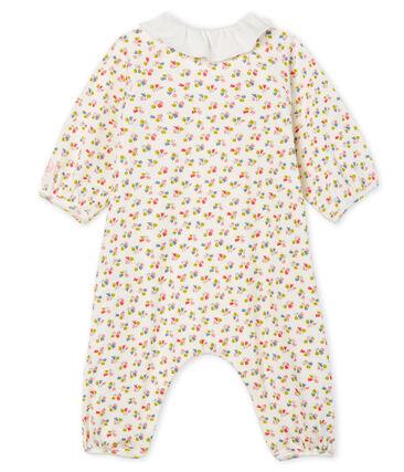 Mono corto para bebé niña de punto blanco Marshmallow / blanco Multico Cn