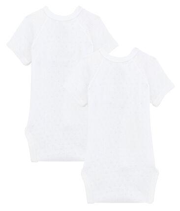 Dúo de bodis de manga corta para bebé