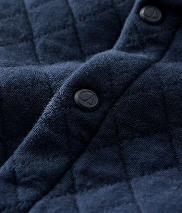 Cárdigan de tejido túbico acolchado para bebé niño azul Smoking