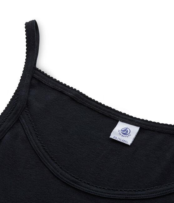 Chemise à bretelles femme coton/laine/soie negro Noir
