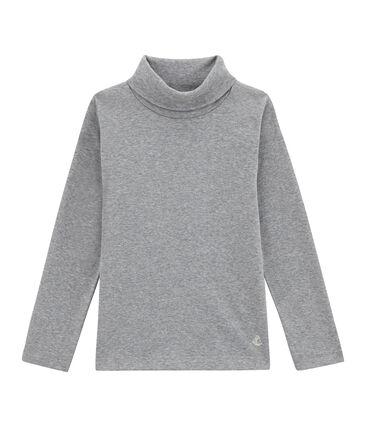 Jersey de cuello alto liso infantil unisex