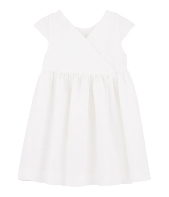 Vestido de ceremonia de niña blanco Marshmallow