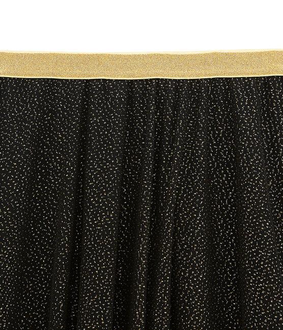 Falda para mujer en tul negro Noir / amarillo Dore