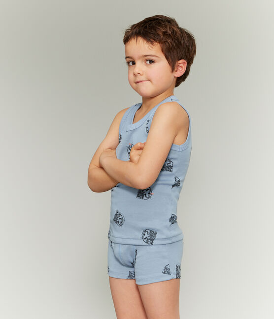 Lote de tres camisetas de tirantes de algodón ecológico para niño lote .