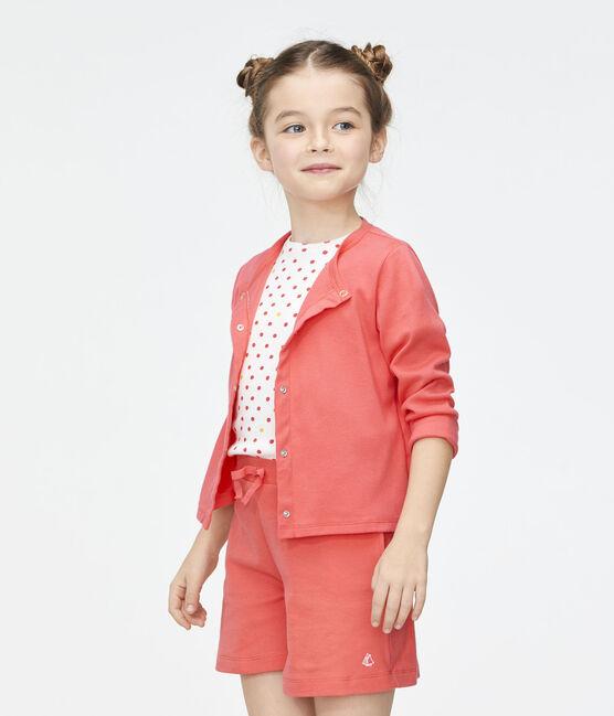 Cárdigan de niña rosa Groseiller