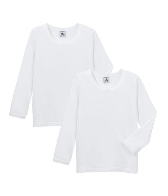 Par de camisetas manga larga para chica lote .
