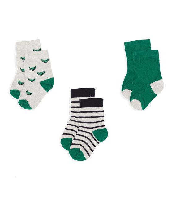 Lote de 3 pares de calcetines para bebé niño gris Beluga