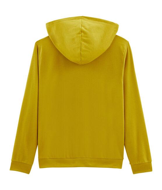 Sudadera mujer con capucha amarillo Bamboo