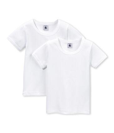 Lote de 2 camisetas en punto cocotte para niña