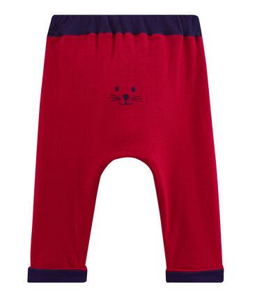 Pantalón para bebé niño de punto rojo Terkuit