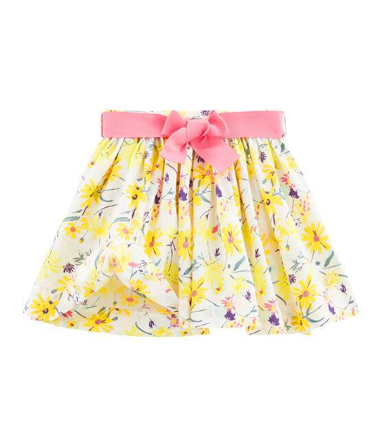 Falda de niña blanco Marshmallow / blanco Multico