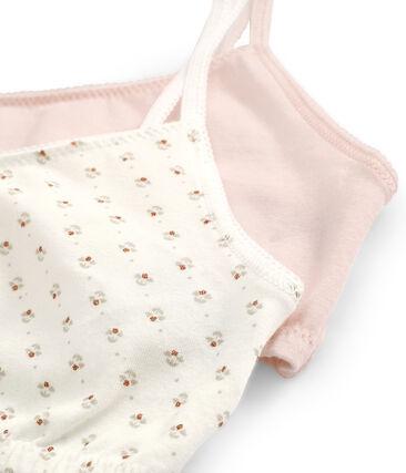 Par de sujetadores de algodón stretch para chica