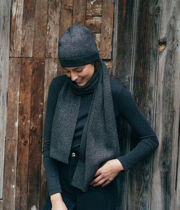 Bufanda brillante para mujer negro City / gris Argent