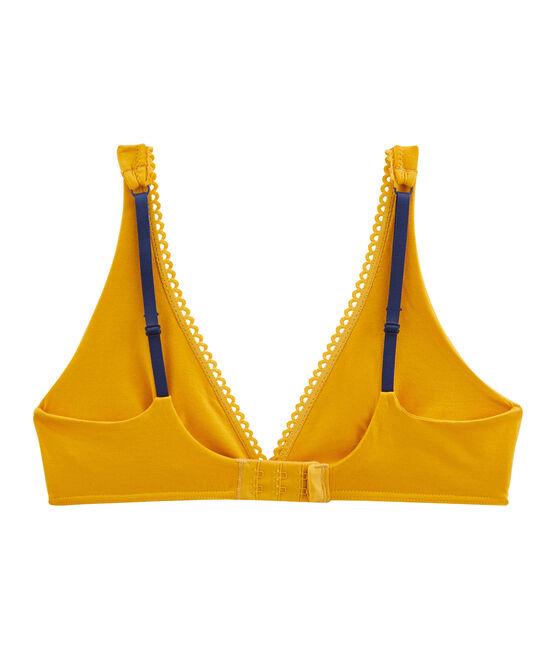 Sujetador triangula de mujer amarillo Boudor