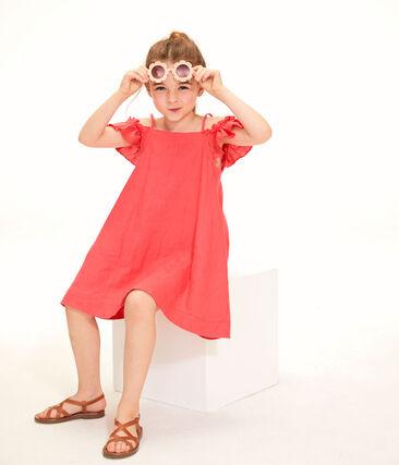 Vestido de niña rosa Groseiller