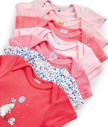 Bolsita sorpresa de 7 bodis de manga corta para bebé niña lote .