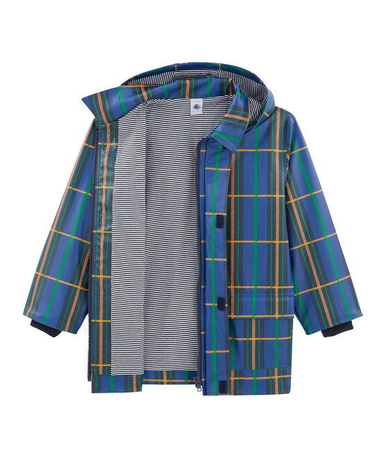 Impermeable infantil unisex de cuadros azul Limoges / blanco Multico