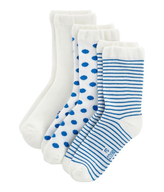 Juego de 3 pares de calcetines infantiles para niña lote .