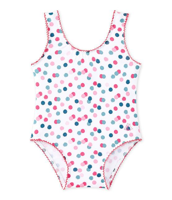 bañador de niña estampado blanco Marshmallow / blanco Multico