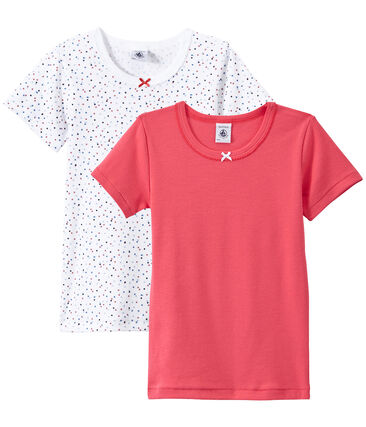 Lote de 2 camisetas de manga corta para niña lote .